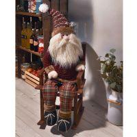 Deko-Figur Schaukel-Santa, rustikal
