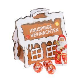 Originelle Form und weihnachtliche Motive. Gefüllt mit einer exquisiten Lindt-Füllung. Ein Weihnachtsmann 10g , drei Mini Lindor-Kugeln à 4,6g, Maße: ca. 11,4 x 5,2 x 11 cm, Gewicht: ca. 0,3 kg.