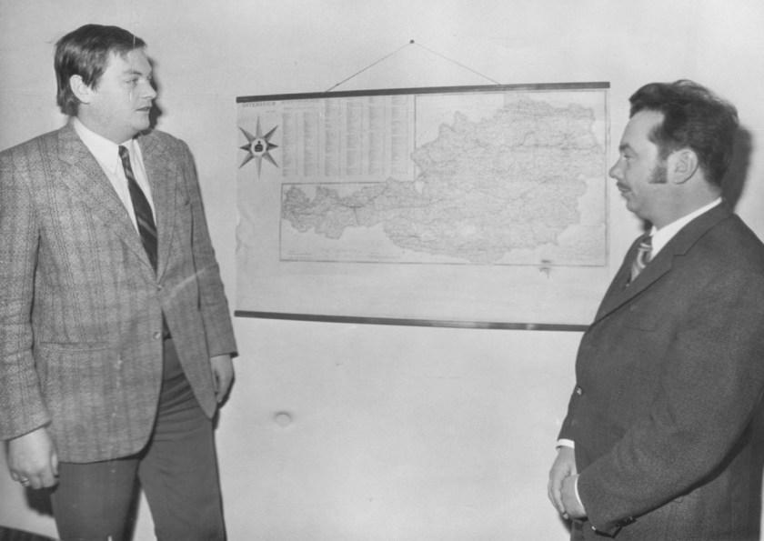 Giroauomationsstelle: Walter Domandl und Fritz Schindler