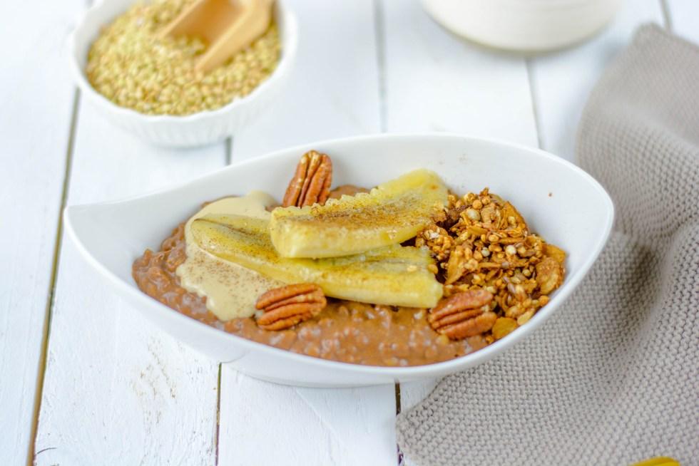 Zuckerfreier Schoko - Buchweizen Porridge