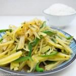 酸辣土豆丝 - Sauer-scharfe Kartoffelstreifen