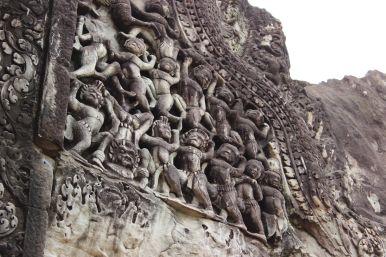 Wandschmuck in Angkor Wat