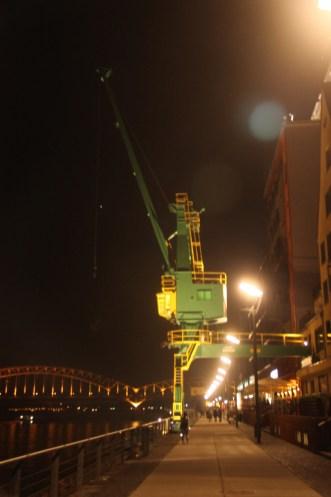 Kran am Rheinauhafen