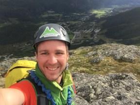Die letzten Meter zum Gipfel im Heustadel Klettersteig. www.einfachmalraus.net