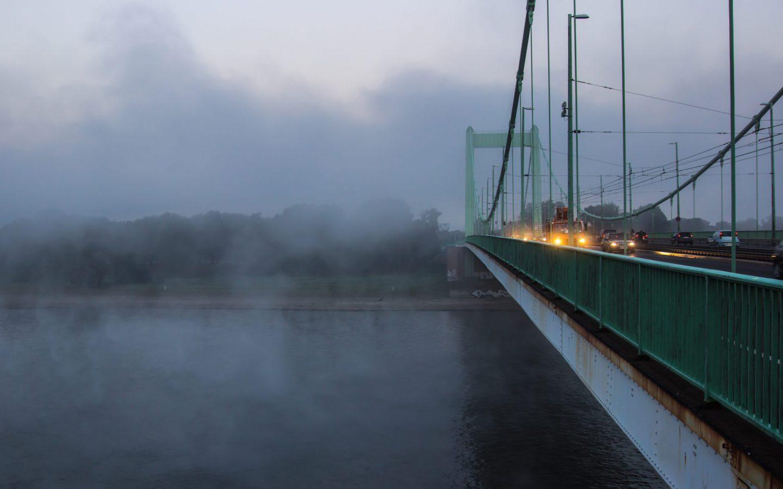 Mülheimer Brücke, Köln, Nebel, einfachmalraus.net, Dirk Wahn