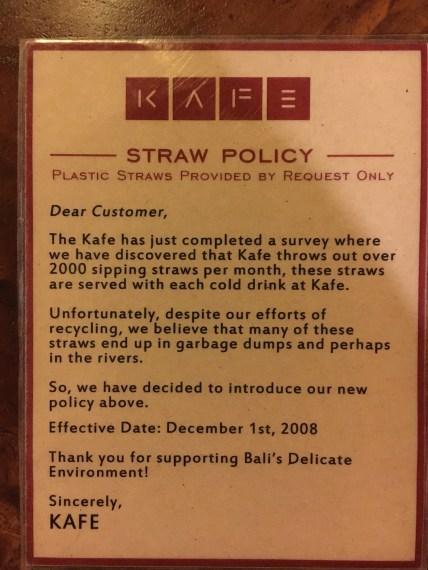 No Straw please!