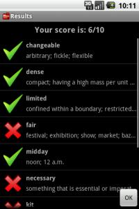 [Aplicación Android] Test Your English Vocabulary