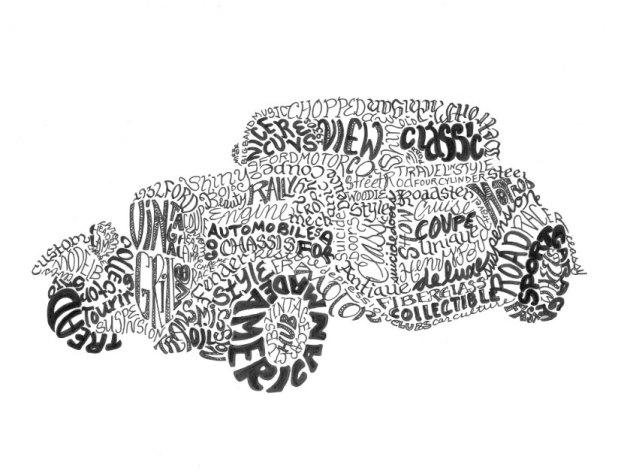 Calligram-car