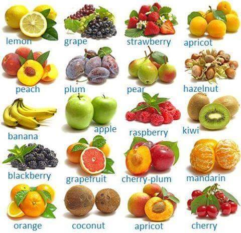 Vocabulario específico: Frutas   Eingleses