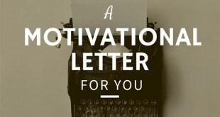 """Ejemplo de """"Motivational letter"""""""