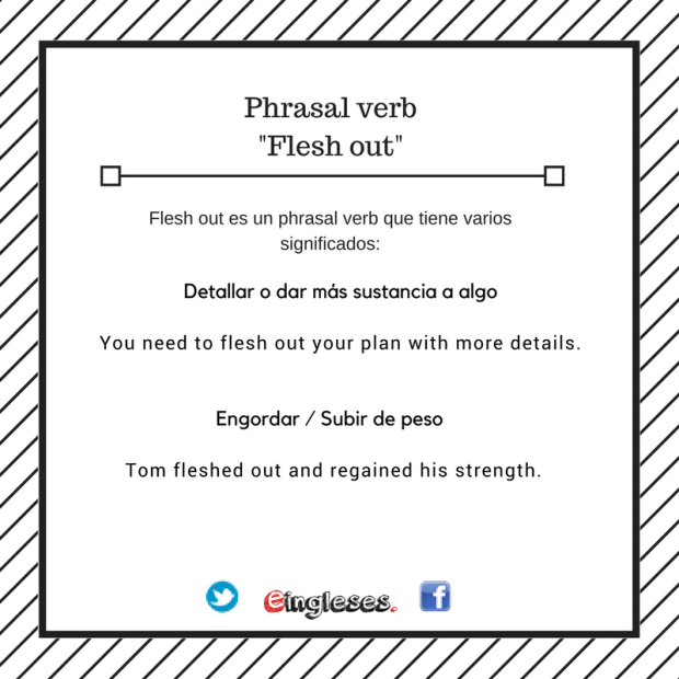Phrasal verb of the day: Flesh Out