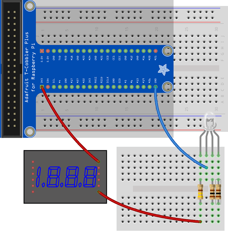 Working with LED's – And Wiring 4 pin RGB led to Raspberry