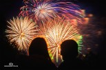 Feuerwerk des Bergstadtfestes in Freiberg