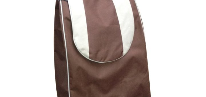 Einkaufstrolley Tasche braun