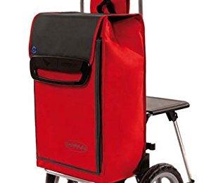 Einkaufstrolley Relax mit Sitz Einkaufshilfe mit Sitz Front