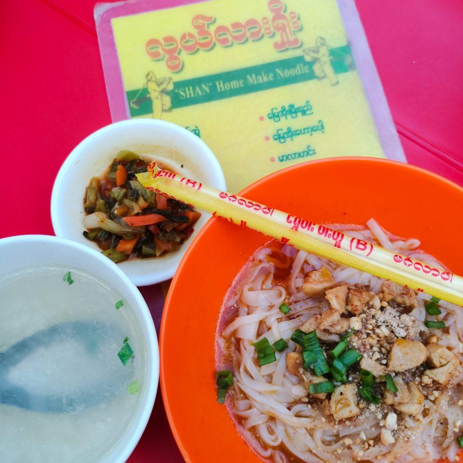 Nudelsuppe in Yangon