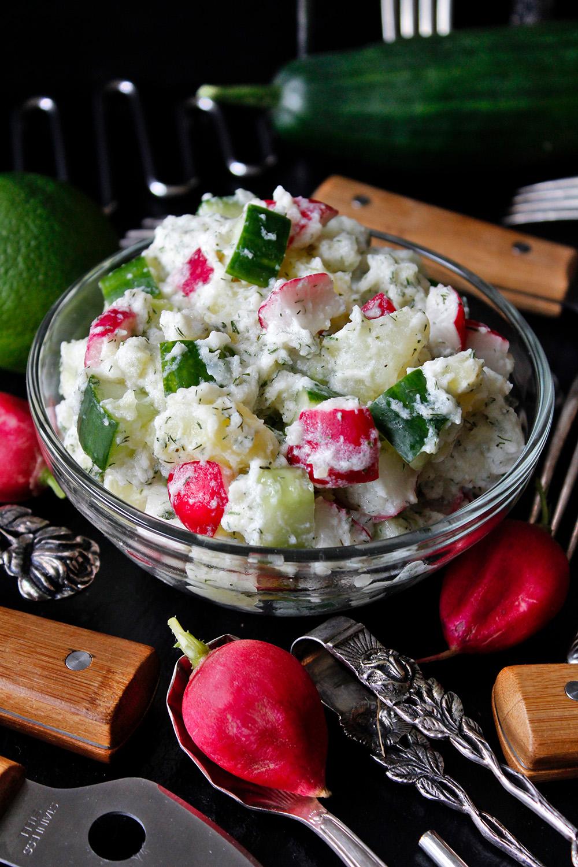 Rezept für Kartoffel-Gurken-Salat von Einmal Nachschlag, bitte!