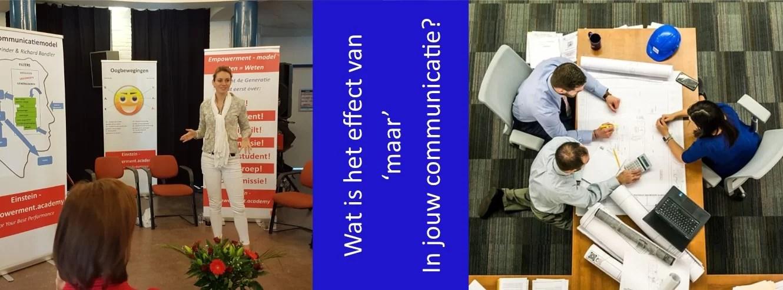 counter example maar in communicatie