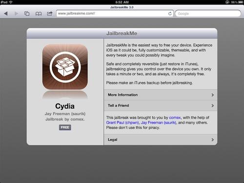 Jailbreak fyrir iPad 2