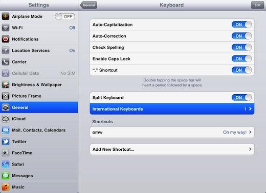 iPad íslenskt lyklaborð 2