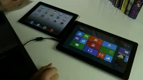 Samanburður á iPad og Windows 8