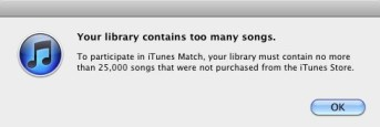 iTunes too many songs