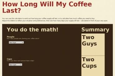Vefsíða vikunnar: How Long Will My Coffee Last