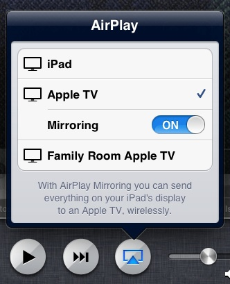 AirPlay speglun