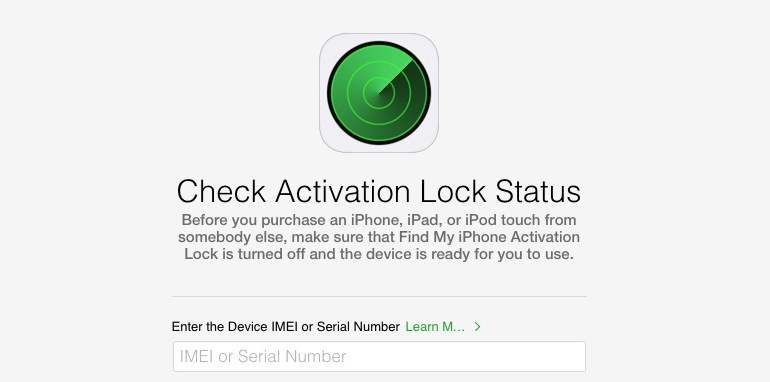 Check Activation Lock