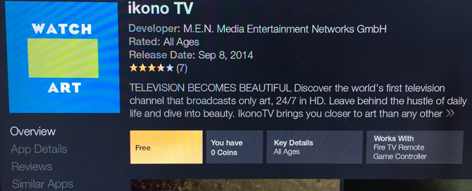 Amazon Fire TV - ikono TV