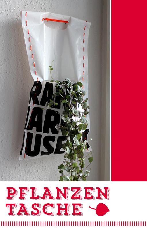 Pflanzentasche, Upcycling, DIY