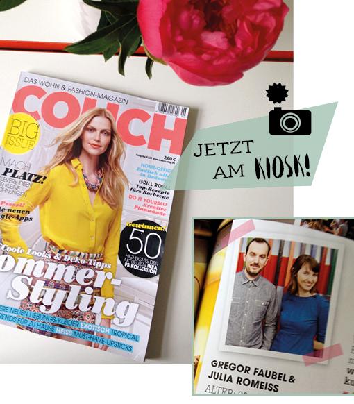 COUCH-Magazin Gregor Faubel, Julia Romeiss