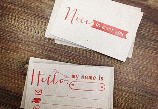 Letterpress, Visitenkarte, Kraftpapier