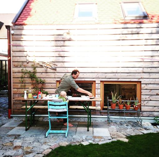 Draußen essen, Leben mit Baby, Tripp Trapp, Werkstatt, Studio Faubel