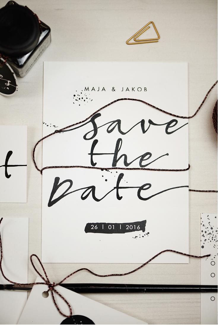 Kalligrafie, Hochzeitseinladung, Save-the-Date, Herzlichst