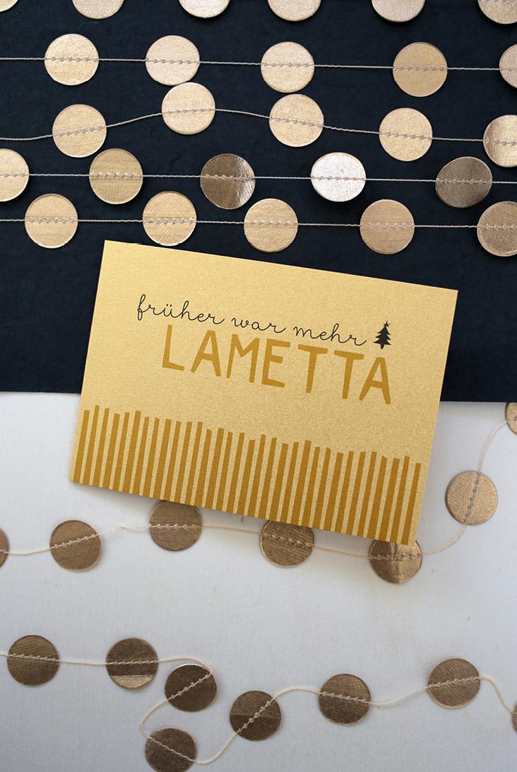 Früher war mehr Lametta, Weihnachtskarte