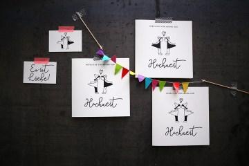 Herzlichst, Hochzeitspapeterie, Hochzeitseinladung, Ehe für alle, Kussmännchen