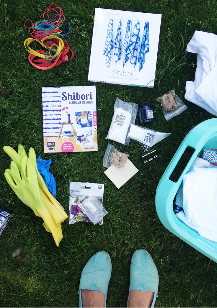 Batiken, Shiboribuch, DIY Indigo, Buechersamstag, Batik-DIY