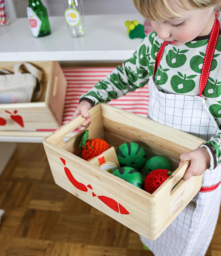 Obstkiste für Kaufladen selber gestalten