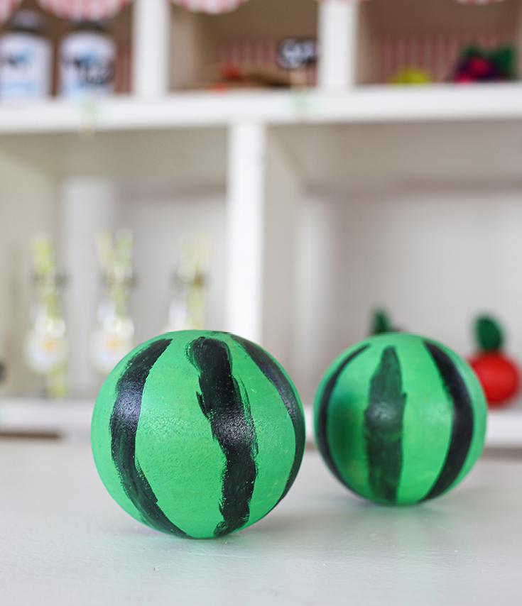 Holz-Melonen DIY für Kinderküche oder Kaufladen