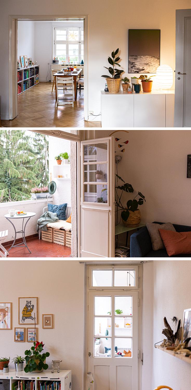 Blick auf den Winter-Balkon aus dem Buch »tiny balcony« von GU