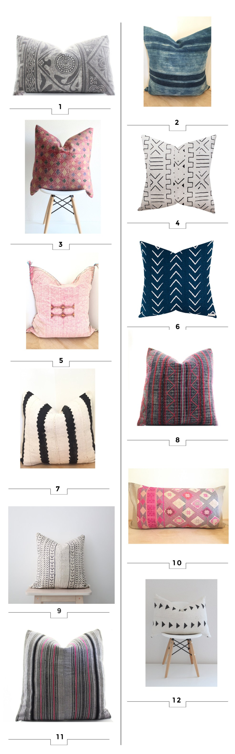 12 favorite boho style pillows