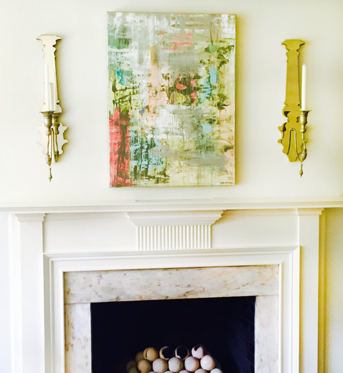 SARAH MASON ART featured by popular Home Interior Design blog, E. INTERIORS