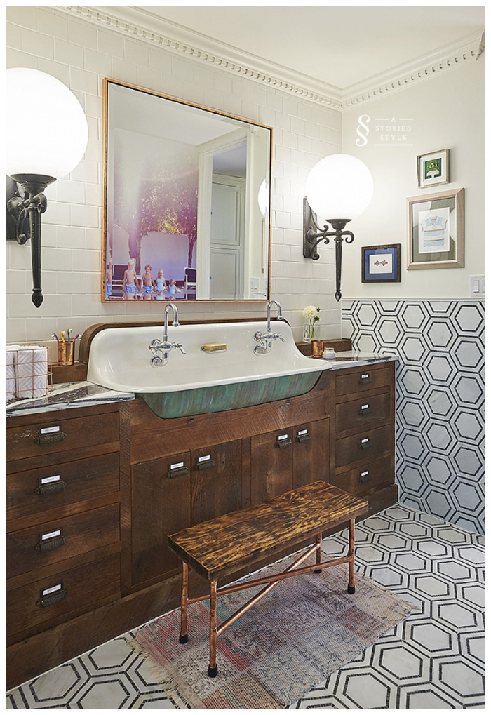 A Storied Style Bathroom
