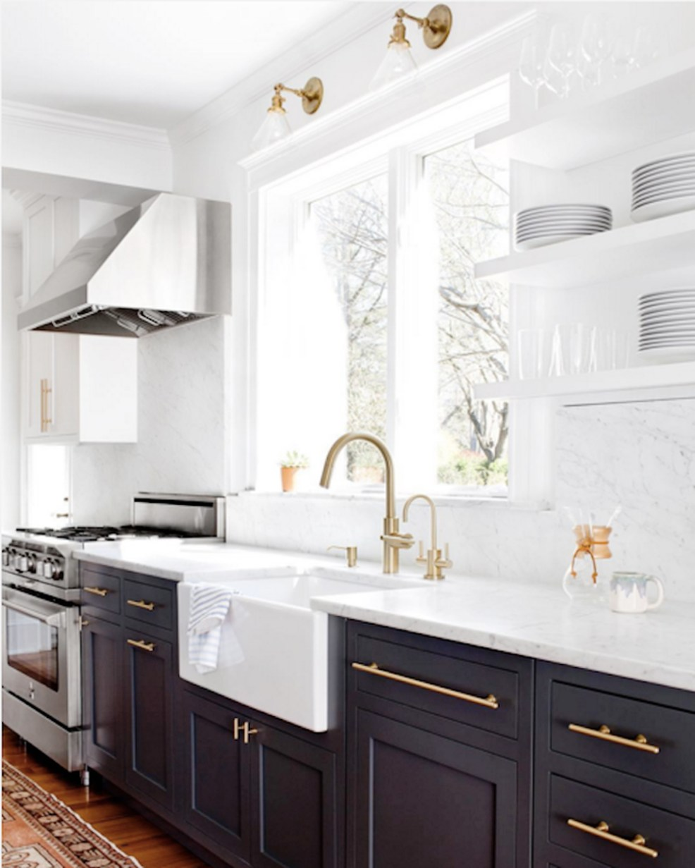 twotoned7 - THE TWO TONE KITCHEN by popular home design blogger E. INTERIORS