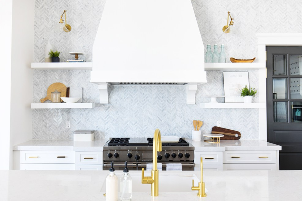 Best Wall Sconces featued by top US interior design blog E. INTERIORS; kitchen scene