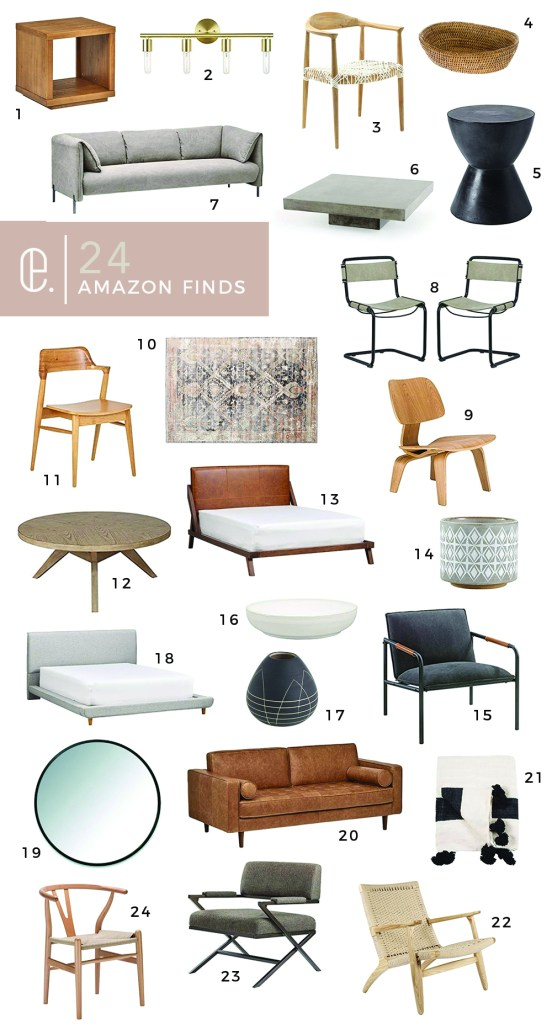 AMAZON HOME DECOR featured by top US interior designer E.INTERIORS