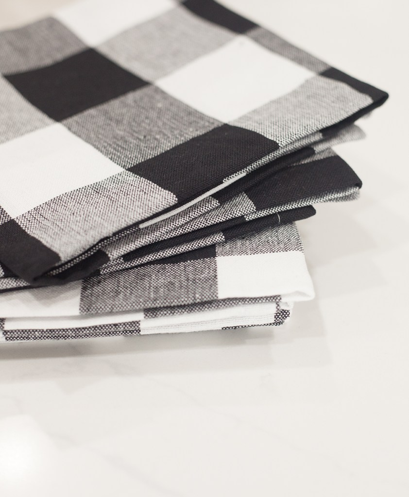 WALMART HOLIDAY ESSENTIALS by popular style blog, E. Interiors: image of DII Buffalo Check Kitchen Napkin Set from Walmart.