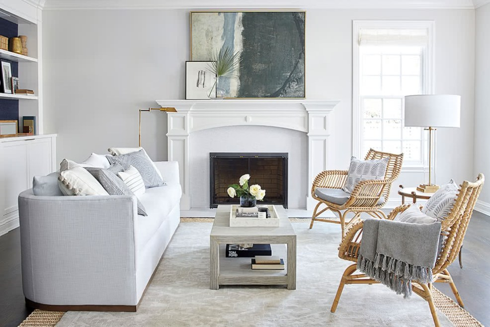 Serena and Lily Sale by popular US interior design blog, E. Interiors Design: image of a living room filled with Serena and Lily furniture.