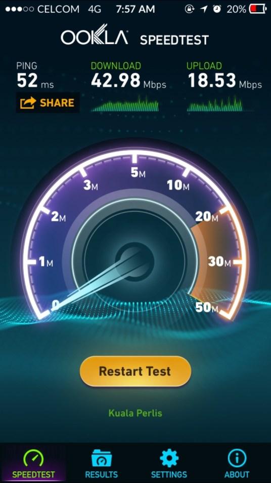celcom basic 38 lte speedtest